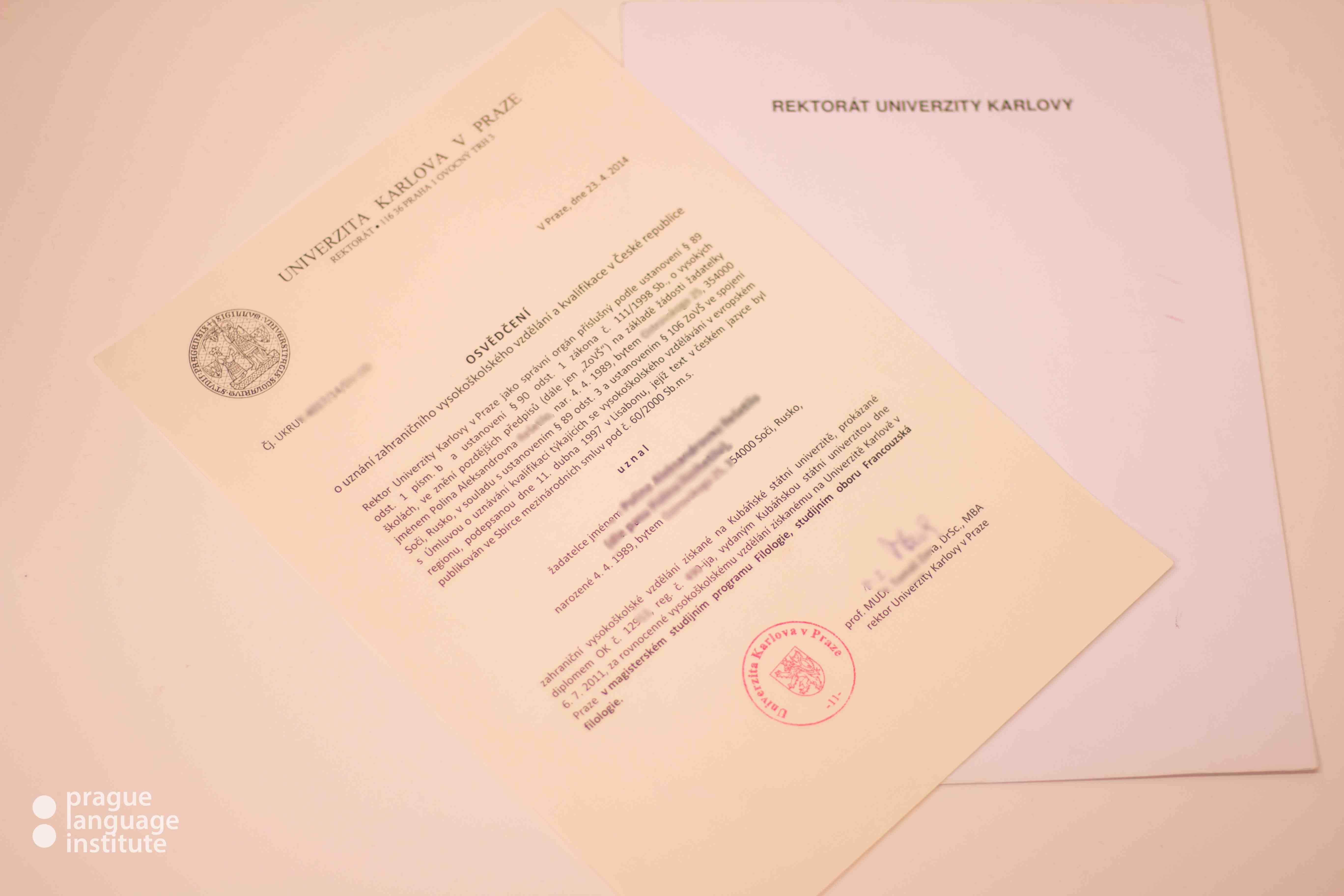 Нострифицировать диплом в Чехии - пошаговая инструкция